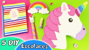 5 DIY stiles escolares unicornio
